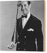 Maurice Chevalier, 1930 Wood Print