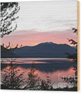May Sunset On Kootenay Lake Wood Print