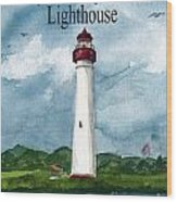 May The Magnificent Lighthouse  Wood Print