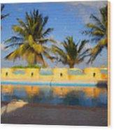 Maya Palms 2 Wood Print