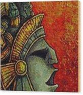 Mayan Mask II Wood Print
