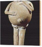 Mayan Rattle, 200-900 A.d Wood Print