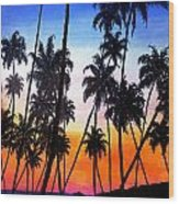 Mayaro Red Dawn Wood Print