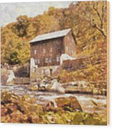 Mcconnell's Mill Wood Print