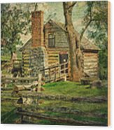 Mccormick Grist Mill Wood Print by Kathy Jennings