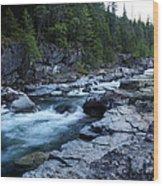 Mcdonald River Glacier National Park - 3 Wood Print