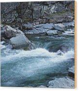 Mcdonald River Glacier National Park - 4 Wood Print