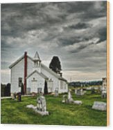 Mcelwee Chapel Series II Wood Print by Kathy Jennings