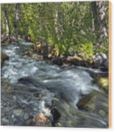 Mcgee Creek California Wood Print