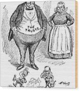 Mckinley Cartoon, 1900 Wood Print