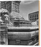 Mckinley Memorial In Black And White Wood Print