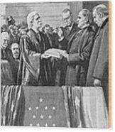 Mckinley Taking Oath, 1897 Wood Print