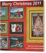 Mclanegoetz Studio Christmas Card Wood Print