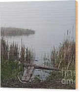 Mclaughlin Bay In The Fog At The Shore Wood Print