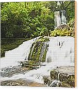 Mclean Falls In The Catlins Of South New Zealand Wood Print