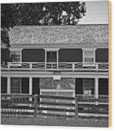 Mclean House Bw Appomattox Virgnia Wood Print