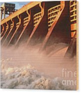 Mcnary Dam Wood Print by DOE/Science Source