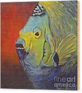 Mean Green Fish Wood Print