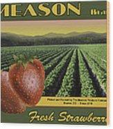Meason Strawberries Wood Print
