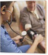 Measuring Blood Pressure Wood Print
