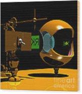Mechanical Oculist Green Wood Print
