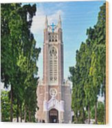 Medak Church Wood Print