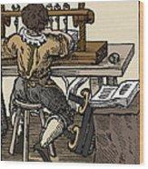 Mediaeval Book Manufacture Wood Print