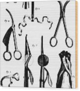 Medical Instruments, 18th Century Wood Print