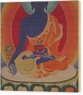 Medicine Buddha Wood Print by Elisabeth Van der Horst