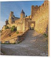 Medieval Carcassonne Wood Print