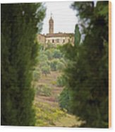 Medieval Church Of Tuscany Wood Print by David Letts