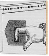 Medieval Finger Pillory Wood Print by Granger