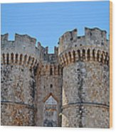 Medieval Fortress Of Rhodes. Wood Print by Fernando Barozza