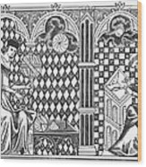 Medieval Mathematicians Wood Print