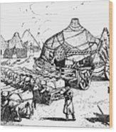 Medieval Tartar Huts Wood Print