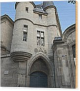 Medieval Tower Of Hotel De Soubise Wood Print