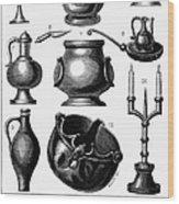 Medieval Utensils Wood Print