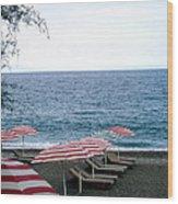 Mediterranean Beach Time  Wood Print