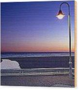 Mediterranean Sea At Motril Wood Print