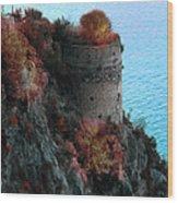 Mediterranean Turret Wood Print