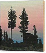 Meeks Bay Sunset. Wood Print