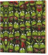 Meet The Froggers Wood Print