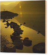 Meeting The Sun Wood Print