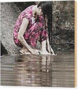Mekong Delta Life Wood Print by Iris Van den Broek