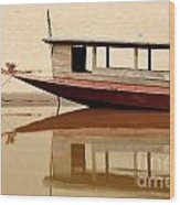 Mekong Reflection 2 Wood Print