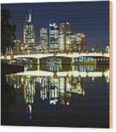 Melbourne Lights Wood Print