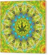 Mellow Yellow Mandala Wood Print