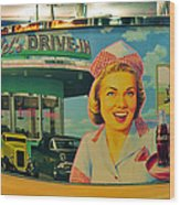 Mels Drive In Wood Print by David Lee Thompson