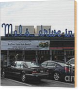 Mel's Drive-in Diner In San Francisco - 5d18013 Wood Print