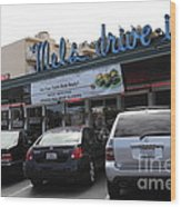Mel's Drive-in Diner In San Francisco - 5d18027 Wood Print by Wingsdomain Art and Photography